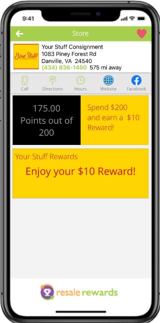 phone with Resale Rewards app
